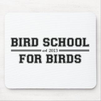 Fågeln skolar som är för fåglar musmattor