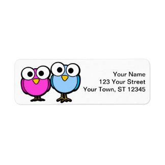 Fågelreturadressklistermärkear - lilla lables returadress etikett