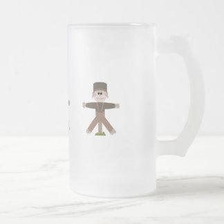 Fågelskrämmabrunt Frostat Ölglas