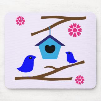 Fåglar älskar bygga bo musmatta
