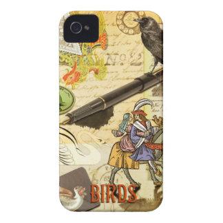 """""""Fåglar"""" Collaged ringer jag fodral Case-Mate iPhone 4 Skydd"""