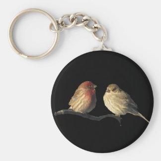 Fåglar för LovebirdshusFinch Rund Nyckelring