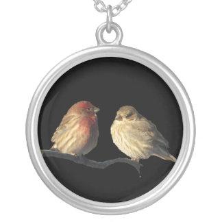 Fåglar för LovebirdshusFinch Silverpläterat Halsband