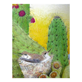 Fåglar i öknen brevhuvud