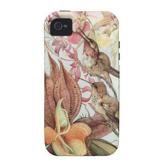 Fåglar och blommor iPhone 4 fodral