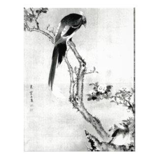 Fåglar och blommor - japansk Edo period Brevhuvud