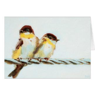 Fåglar på en bindaanpassade hälsningskort