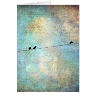 Fåglar på en bindaDigital konst Hälsningskort