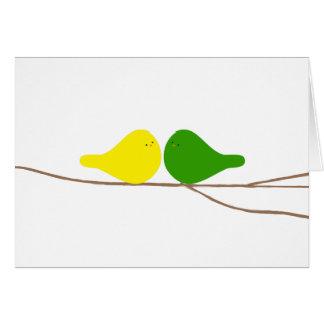 Fåglar på en gren hälsningskort