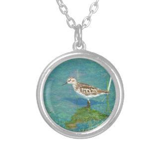 fåglar silverpläterat halsband