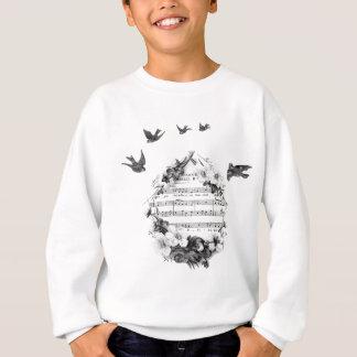 Fåglar som flyger fransk notblad, blommar kranen t-shirt