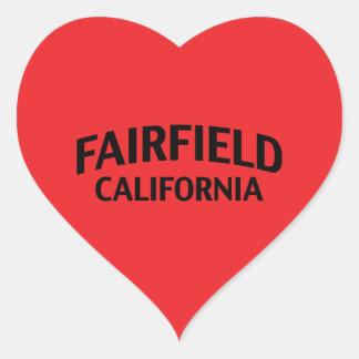 Fairfield Kalifornien Hjärtformat Klistermärke