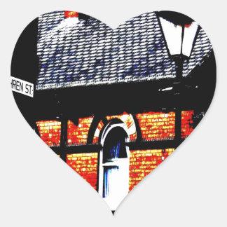 Fairfield Moravian bosättning Hjärtformat Klistermärke
