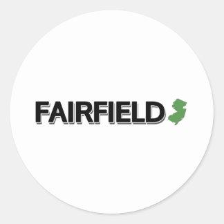 Fairfield som är ny - jersey runt klistermärke