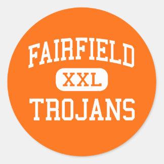 Fairfield - Trojans - pensionär - Fairfield Iowa Runt Klistermärke