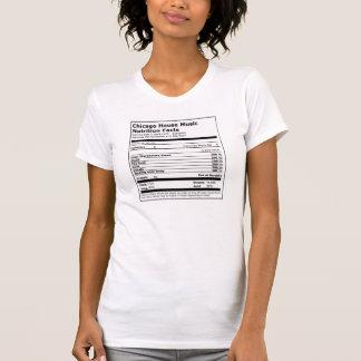 Fakta för näring för Chicago husmusik - dam T Shirts