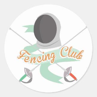 Fäkta klubben runt klistermärke