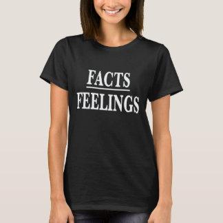 Fakta över känslor t shirts