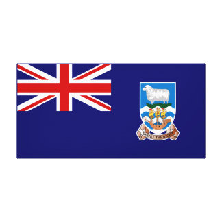 Falkland Islands flagga Kanvasduk Med Gallerikvalitet