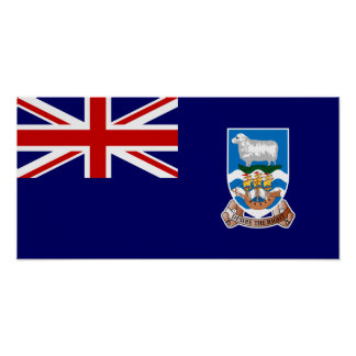 Falkland Islands flagga Poster