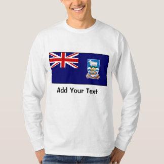 Falkland Islands flagga Tee Shirts