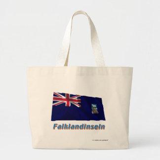 Falklandinseln Fliegende Flagge mit Namen Kassar