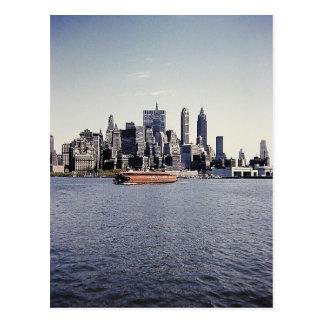 Fäll ned Manhattan horisont Vykort