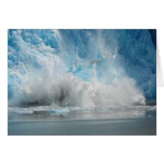 Fallande glaciär hälsningskort