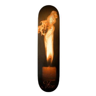 Falln avfyrar original- konst skateboard bräda 19,5 cm