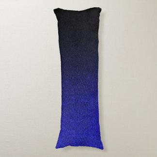 Falln blått & svart glitterlutning kroppskudde