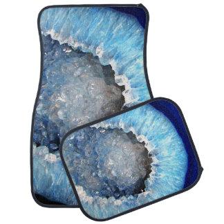Falln blåttkristall Geode Bilmatta