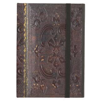 Falln forntida läderbok fodral för iPad air
