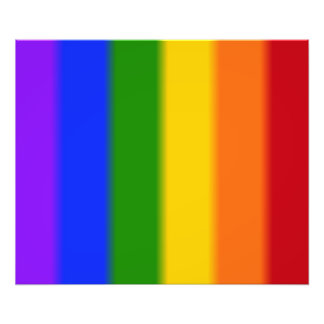 Falln gay prideflagga fototryck