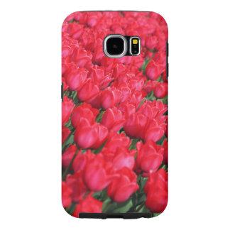 Falln mattar av Crimson tulpan Galaxy S5 Fodral