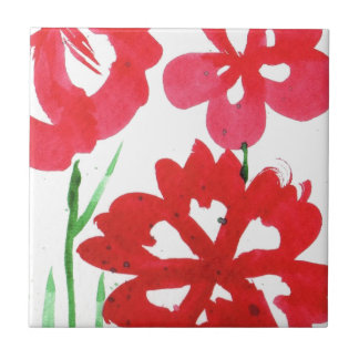 Falska Marimekko blommor Kakelplatta