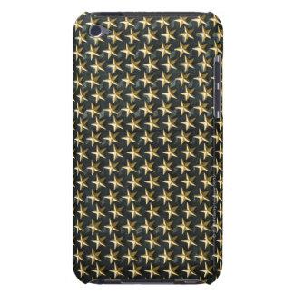 Fält av guld- stjärnor på minnesmärken för iPod touch cases