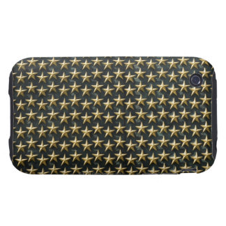 Fält av guld- stjärnor på minnesmärken för tough iPhone 3 cases