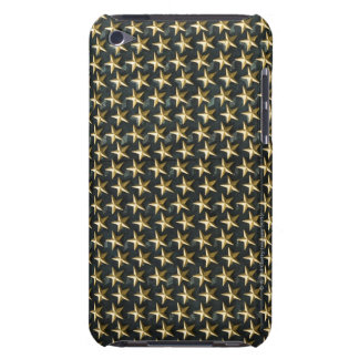 Fält av guld- stjärnor på minnesmärken för världsk iPod touch cases