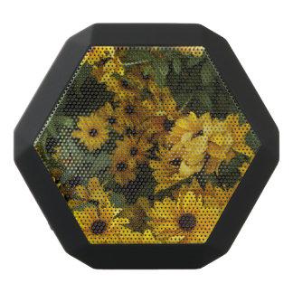 Fält av gult svart bluetooth högtalare