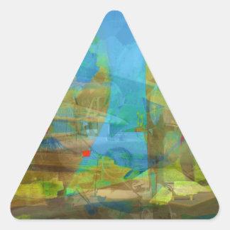 Fält av krig triangelformat klistermärke