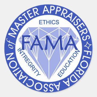 FAMA-klistermärkear Runt Klistermärke