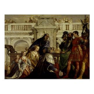 Familj av Darius för Alexander underbaren 2 Vykort