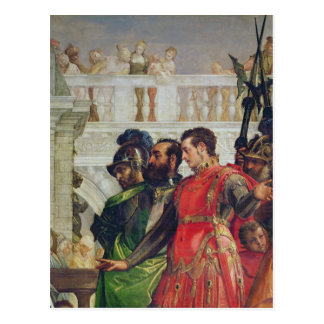 Familj av Darius för Alexander underbaren Vykort