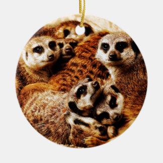 Familj av Meerkats Julgransprydnad Keramik