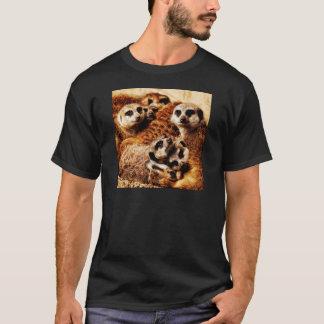 Familj av Meerkats Tee Shirt