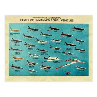 Familj av obemannade flyg- fordon vykort