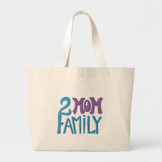 Familj för 2 mamma tygkassar