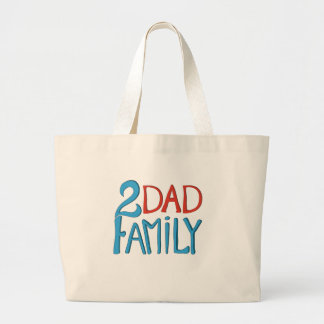 Familj för 2 pappa tygkassar