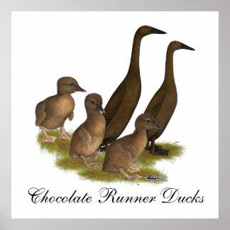 Familj för chokladspringeranka poster
