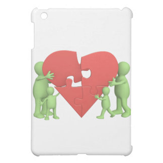 Familj för pussel för hjärta för fodral för iPad mini mobil fodral